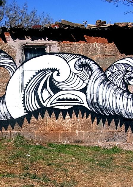 """i art sa community mural project"" a lot of breath"